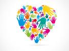 empreinte mains en forme de coeur